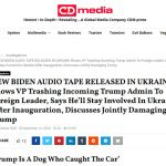 Publisher of Exclusive Biden-Poroshenko Tapes Speaks with The Post & Email