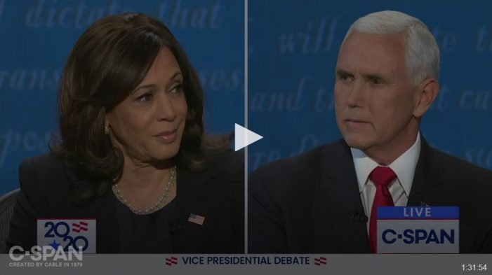 Slippery Kamala Harris Loses Big and Vice President Pence Wins All Over