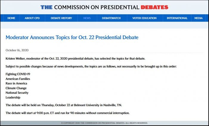 Hoping the Last Debate is as Good as the First