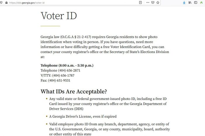 What Could Go Wrong? – Motor Voter and Non-Citizen ID at Georgia Polls